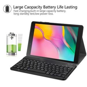 Image 2 - החייבת מקלדת Case עבור Samsung Galaxy Tab 8.0 2019 מקרה כיסוי עבור SM T290/T295 אלחוטי נשלף Bluetooth Tablet funda