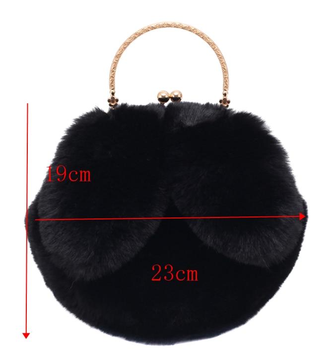 [BXX] Faux Fur Small Soft Crossbody Bags For Women 2020 Winter Trend Hand Bag Women's Luxury Warm Travel Shoulder Handbags HO711