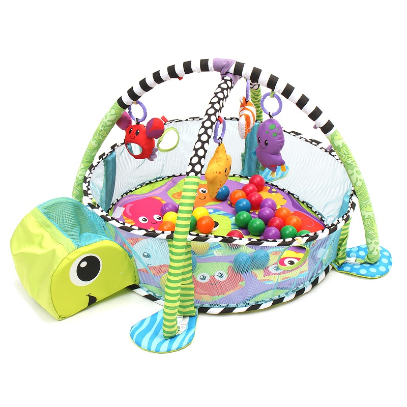 Turtle Infant Play Mat Toddler Game Blanket Crawl Pad Game Mat Baby Fitness Frame Educational Toy Activity Gym Floor Rug