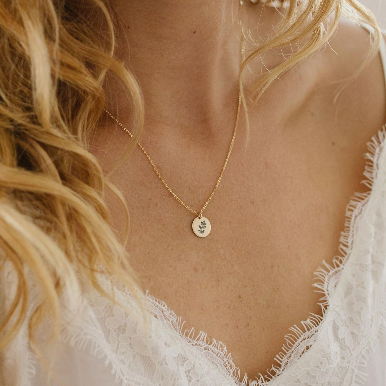 eManco Engrave Cactus Plants Necklace women Minimalist Gold Color 316L Stainless Steel Necklace Trendy Dainty Pendant Necklace
