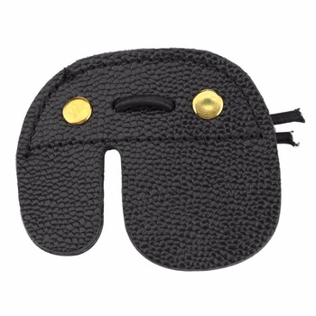Archery Finger Guard Protection Pad Glove Tab Bow Arrow Cow Leather Hunting Shooting Protector Sports 2