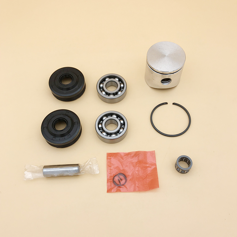 HUNDURE 38mm Piston Ring Crank Ball Bearing Oil Seals Kit Fit HUSQVARNA 36 136 136LE 137 137e Chainsaw Engine Parts