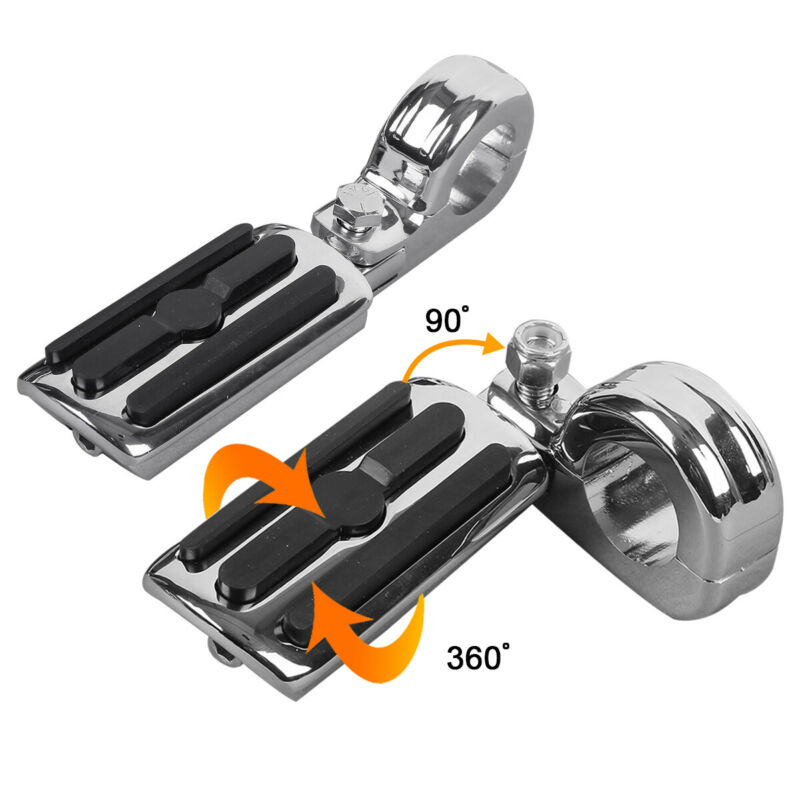 """Highway 1.25/"""" Engine Bars Foot Pegs For Harley Electra Glide Street Road King"""