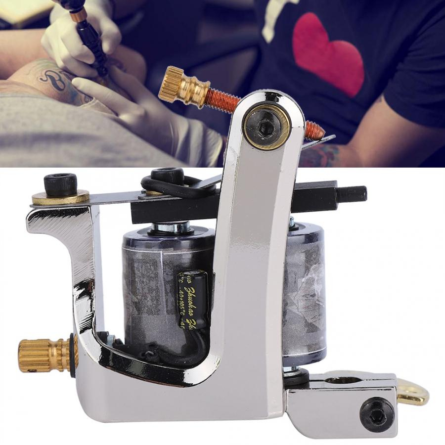 10 Wraps Professional Alloy Tattoo Machine Copper Coils Tattoo Shader Machine Gun Tattoo Gun Machine