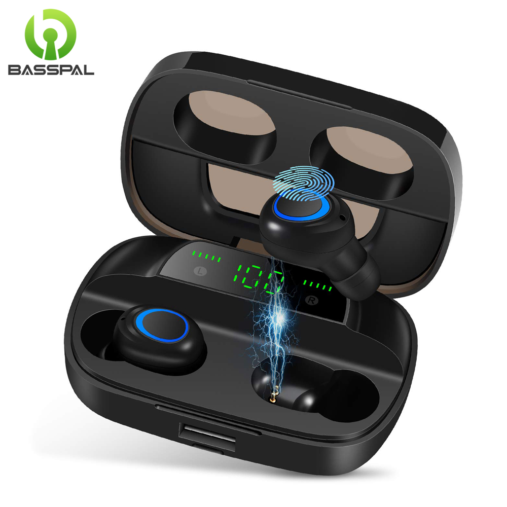 BassPal S11 TWS Wireless Bluetooth Earphone Stereo Bass Bluetooth 5 0 with Microphone LED Display Touch Control Wireless Earbuds