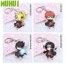 Free shipping 16 Styles Anime Naruto Acrylic Keychain Kakashi Shikamaru Naruto And Bijuu Twoside Print Keyring Gift B105