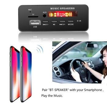 Auto bluetooth 5.0 rádio handsfree mp3 decodificador painel de placa sem fio módulo receptor fm cartão tf 3.5mm usb aux para toyota yatou