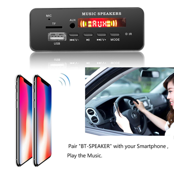 自動 bluetooth 5.0 ラジオハンズフリー Mp3 デコーダボードパネルワイヤレス fm 受信モジュール tf カード 3.5 ミリメートル usb の aux トヨタ yatou