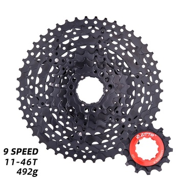 MTB 9 prędkości 11-46T kaseta rower górski szeroki stosunek 9v k7 czarny koło zamachowe 9 s koła zębate kompatybilne z Shimano M430 M4000 M590