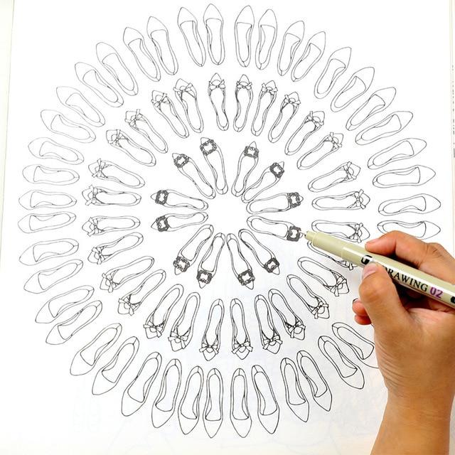 5pcs Different Tip Black Fine liner Ink Marker Pen Sketching Brush Pen for Signature Drawing Hand Lettering School Album Writing 2