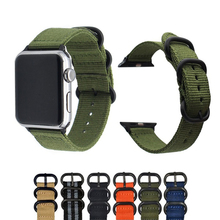 цена на HeLeaf Hot Sell Nylon Watchband for Apple Watch Band Series 4/3/2/1 Sport Leather Bracelet 42 mm 38 mm Strap For iwatch Band
