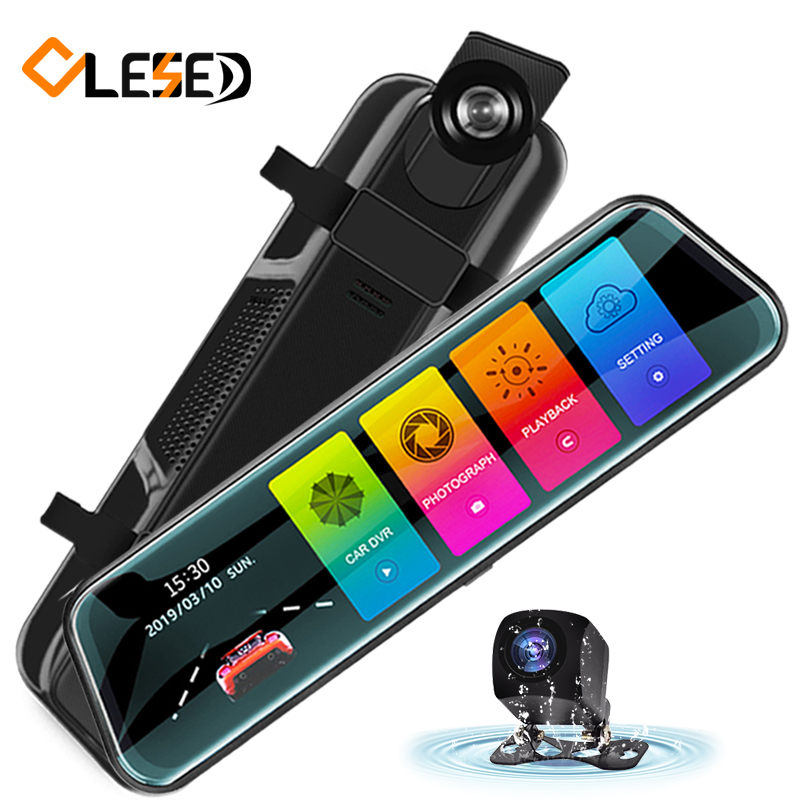 OLESED Car Dvr Mirror Drive-Recorder Car-Camera Touch-Screen Stream Dual Full-Hd T95