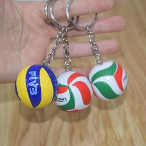 Mini PVC Volleyball Keychain ball toy Sport Key Chain Gift Car Ball Key Holder Ring For Players Men Women Keyring Birthday Gift