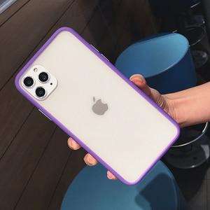 Image 5 - Trasparente antiurto Hybrid Cassa Del Telefono Del Silicone Per il iPhone 11 Pro max X XS XR 12 Mini 7 8 Più di 6S Opaca Clear Frame Soft Cover