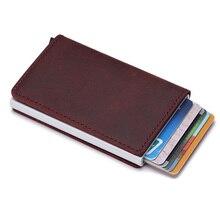 Bank Kreditkarte Halter Aufkleber Geldbörse Mini Slim Rfid Brieftasche Männer Anti-diebstahl Aluminium Box Geld Tasche Karte Halter protektoren