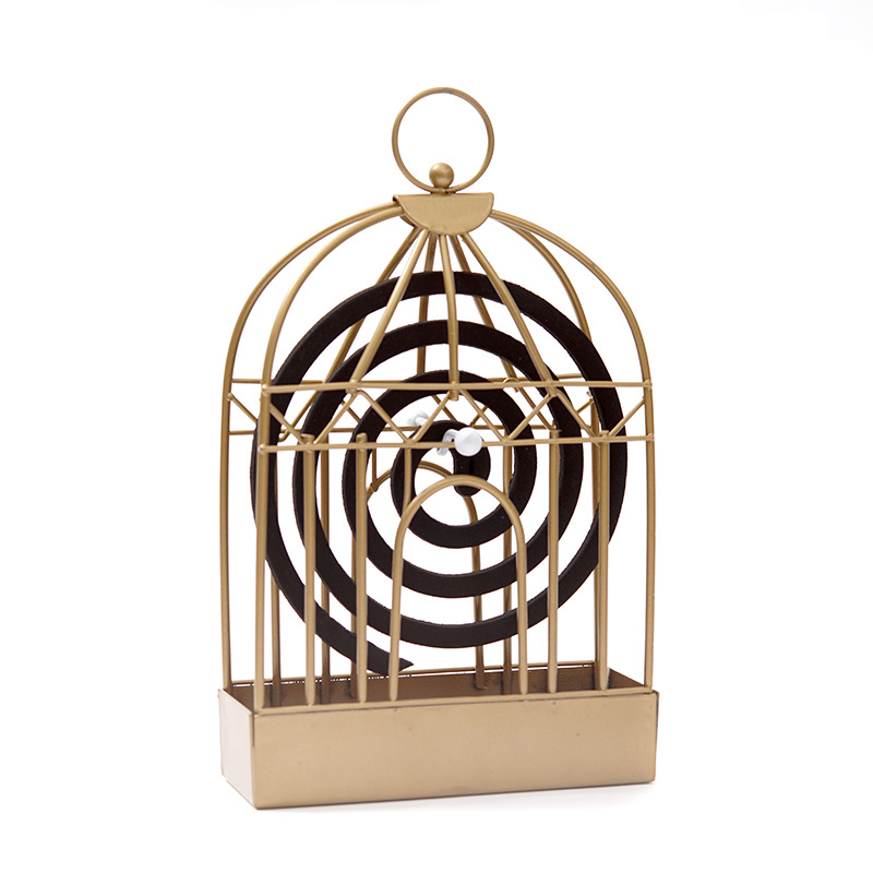 Northern Europe Retro Iron Art Mosquito Incense Holder Creative Home Decoration A Summer Bird-Cage Mosquito Coil Factory Custom
