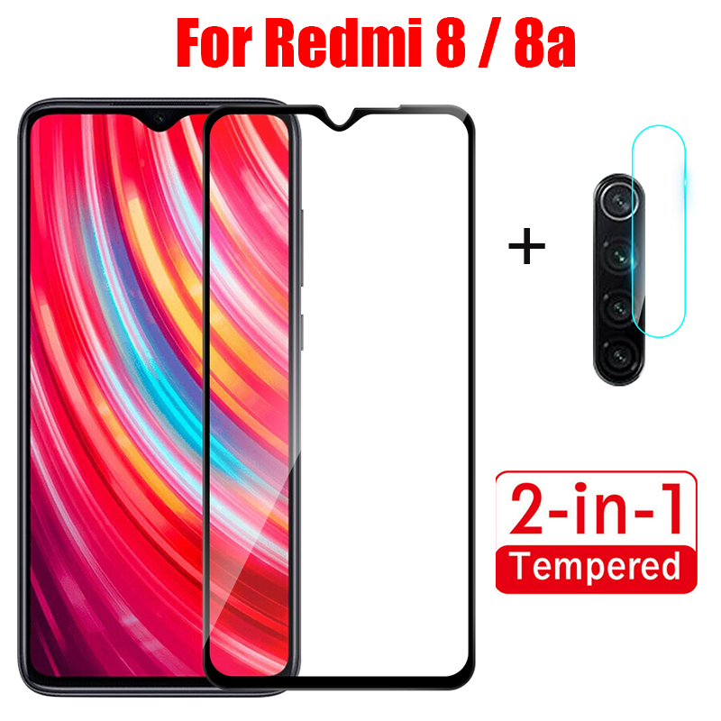 2-in-1 Tempered Glass For Redmi 8 8A Camera Lens Film Screen Protector For Xiaomi Redmi8 Redmi8a Mi8 A Red Mi8 Protective glass