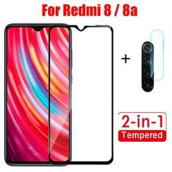 Vidrio Templado 2 en 1 para redmi 8 8A protector de pantalla de la Lente de la cámara para Xiaomi redmi 8 redmi 8a Mi8 a Cristal protector Rojo mi8