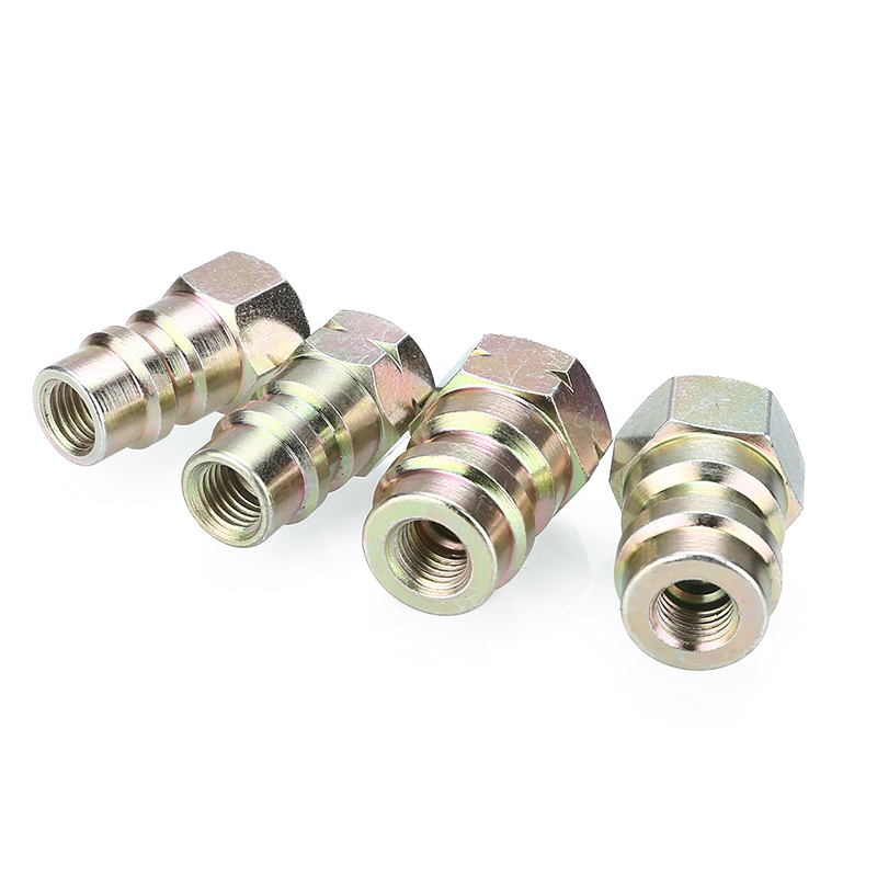 Mayitr 4pcs/set R12 to R134a Systems Retrofit Conversion Adapter Fittings Kit Accessories
