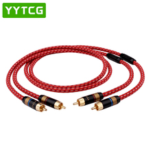 YYTCG Hifi RCA Cable High Quality 4N OFC HIFI 2RCA Male to Audio amplifier CD DVD audio wire