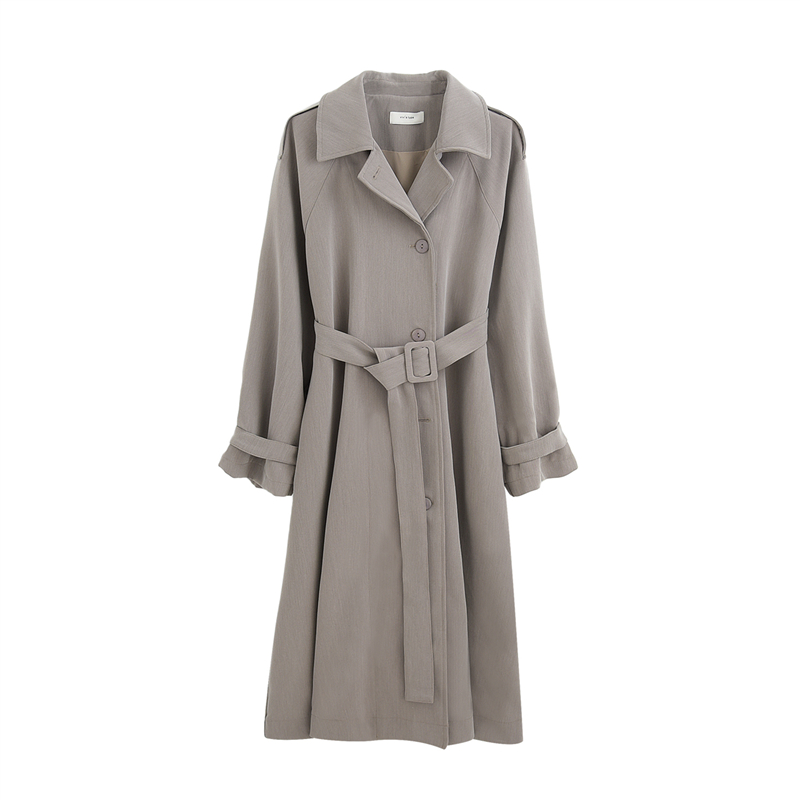 2019Autumn winter coat   trench   coat oversize long   trench   casual women's Korean style simple loose silhouette long duster Coats