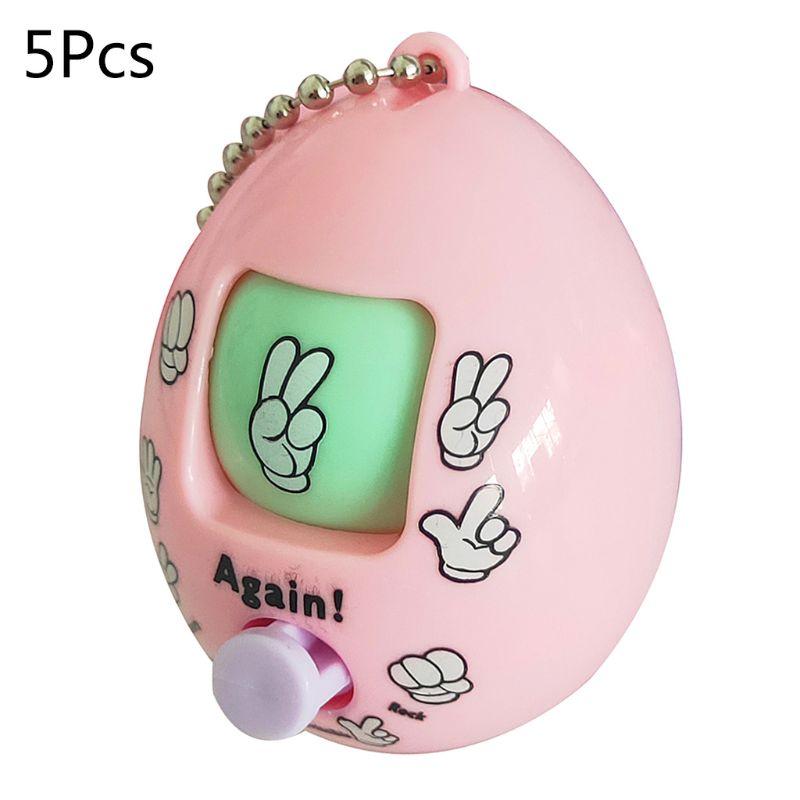 5pcs Family Games Keychain Rock Paper Scissors Play Toy Egg Key Chain Ring Car Bag Pendant