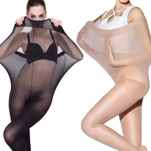 Plus Size Ultra Elastic Tights Stockings Women Weight Control Body Shaper Pantyhose 30D Stocking Tights Sexy Underwear 1