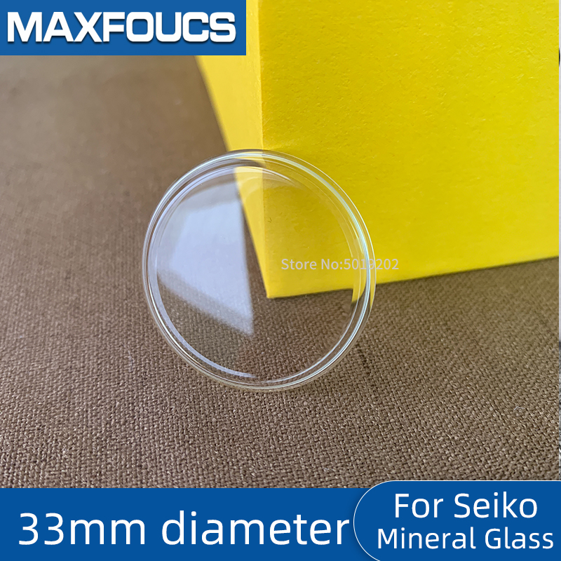 For Seiko  33mm Diameter  With Chamfer Bottom Concave Mineral Glass Crystal Watch Parts Accessories ,1 Piecse