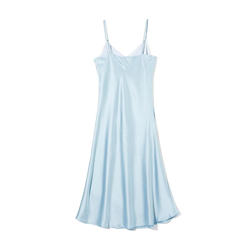 WOTWOY Sexy V-neck Sleeveless Dresses Women Spaghetti Strap Mid-Calf Sheath Party Dresses Femme Clothes Women Summer 2020 New