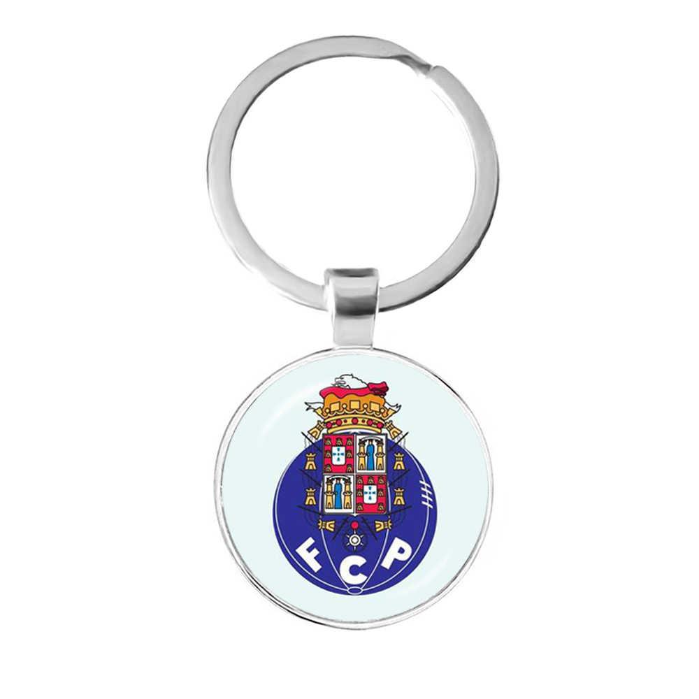 Clube de futebol 25mm porta-chaves de cabochão de vidro sl benfica ligas de futebol logotipo clube de futebol para funs presente