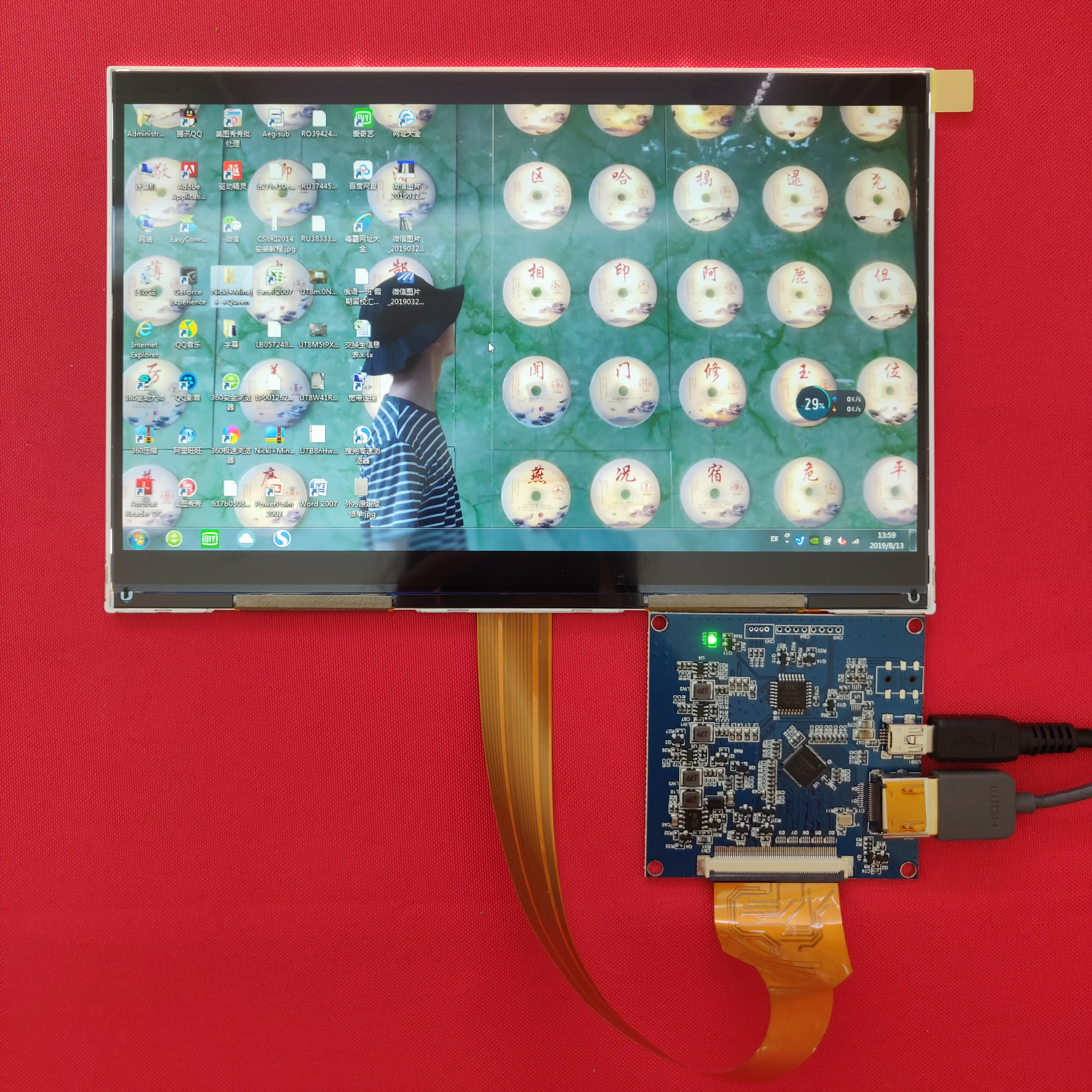 8 9 inch 2560*1600 2k 1440p IPS lcd display monitor with HDMI-MIPI driver  board 50hz for DIY DLP 3d printer Raspberry PI 3 PI 4b