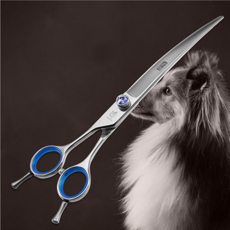 Fenice 8 0 inch Curved Pet Grooming Scissors Japan 440C for Dog Cat Hair Cutting Shaer Grooming Supplies in Dog Scissors from Home Garden