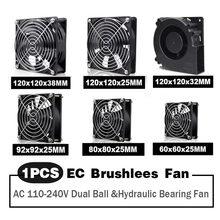 EC Axial Fan 60mm 80mm 90mm 120mm Ball Brushless Fan Cooler AC 110V 120V 220V 230V 240V Computer Case Fan 6025 8025 9225 12038