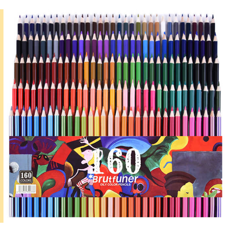 160/180 Colour Wood Colored Drawing Pencils Set Oil Color Pencils 2B Watercolor Pencils Art Supplies For Artist Painting Gift