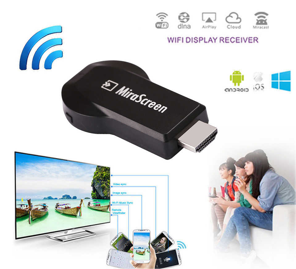 HDMI Wireless Dongle Wifi Ponsel Ke TV Video Adaptor untuk iPhone X Max XR 5 5S 6 7 8 PLUS X Xiaomi Samsung Note10 + Huawei Android