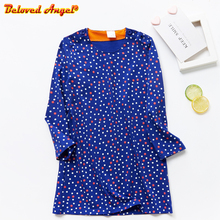 New Fashion Fall Winter Long Sleeve Cotton Candy Colors Cute Baby Girl Party Dresses for Kids Princess Girls Dress