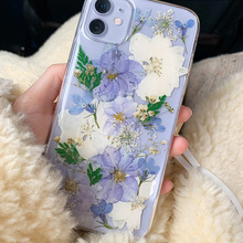Real Dried Pressed Flowers Phone Cases For iPhone 11 Pro Max X XS Max XR 6 6S 7