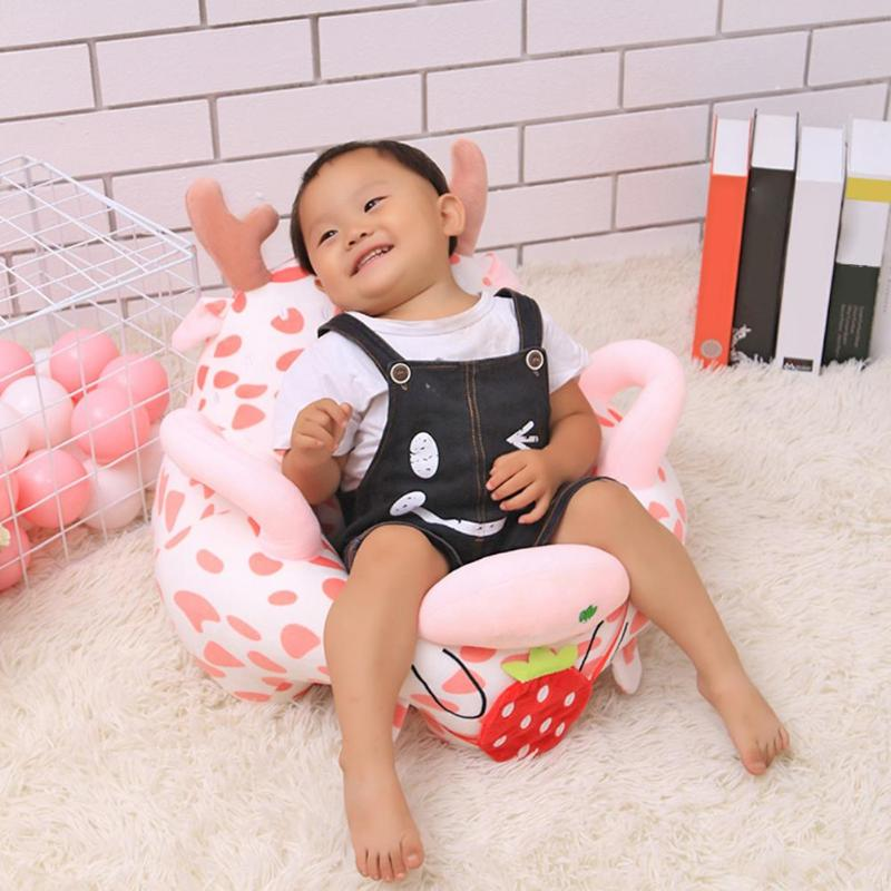1 Set Detachable No Cotton Sofa Cover Without Filling Cotton Dustproof Cartoon Toddler Baby Seat Plush Home Textile Decoration