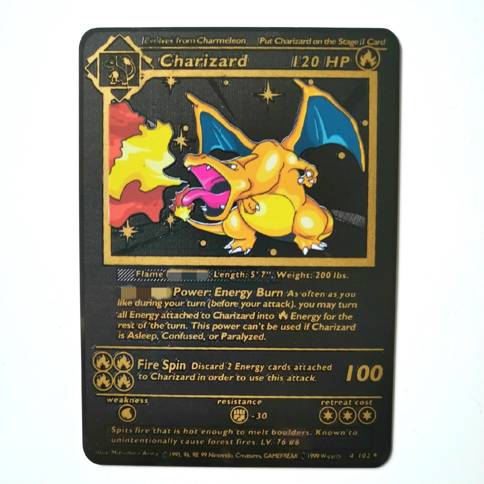 Dragon Ball золотая металлическая карточка супер игра Коллекция аниме-открытки игра детская игрушка - Цвет: Black