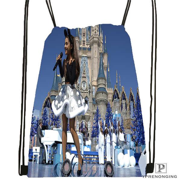 Custom Ariana-Grande- @02 Drawstring Backpack Bag Cute Daypack Kids Satchel (Black Back) 31x40cm#20180611-02-58