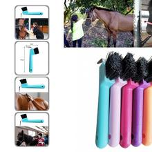 Easy to Hold  Premium Horse Care Cleaning Brush Eco-friendly Horseshoe Brush Fine Workmanship   for Personal Use