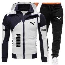 الرجال مجموعات العلامة التجارية الرياضية رياضية 2 قطعة مجموعات الرجال الملابس هوديس + السراويل مجموعات الذكور Streetswear معطف جاكيتات 2021 الشتاء