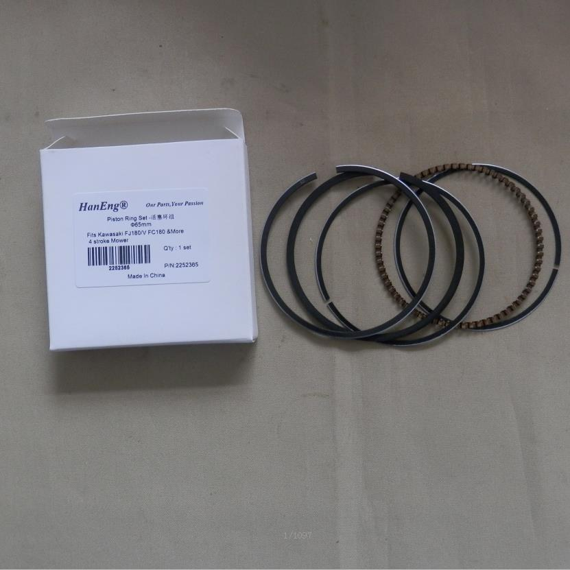 FJ180 PISTON RING SET 65MM FOR KAWASAKI FJ180V FC180 4 CYCLE 6.5HP MTD KAAZ MOWER CYLINDER BOCK OIL RING COMPRESSION RINGS