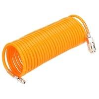 Förderung! 7 5 M Europäischen Orange Flexible PE Pneumatische Luft Kompressor Schlauch Rohr Mit Männlichen/Weiblichen Schnell Anschluss-in Pneumatik-Werkzeuge aus Werkzeug bei