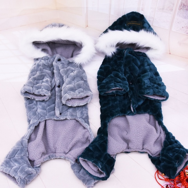 Winter Pet Dog Clothes Warm Dog Coat Jumpsuit Thicken Pet Clothing For  French Bulldog Teddy Dogs Costume Puppy Jackets 2