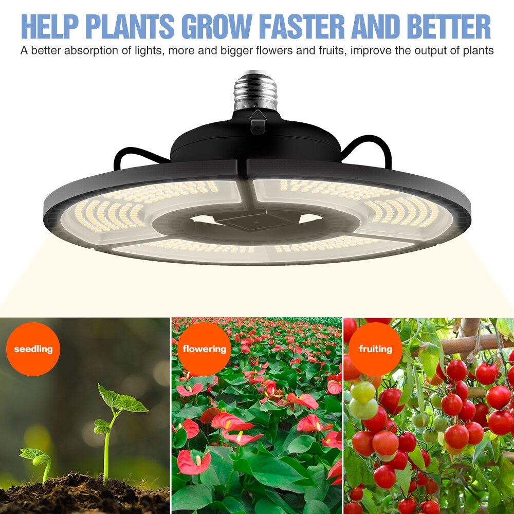 100W 200W 300W 400W Grow Tent Lights LED E27 Seedling Plants Lamp Led Full Spectrum Sunlike Light Bulb Warm White Growing Light 6