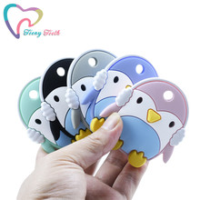 1 PC Silicone Penguin Baby Teether Rodent Sheep Baby Teethin