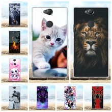 For Sony Xperia XA2 Plus Case Slim Soft TPU Silicone Cover Cat Patterned Funda