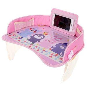 Image 2 - Водонепроницаемый настольный поднос для сидений автомобиля, детские игрушки, держатель для младенцев, детское обеденное сиденье для автомобиля, стол с держателем для телефона