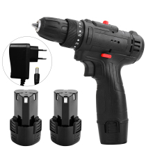 12V Multifunctional Electric Screwdriver Home Cordless Drill High-Power Lithium Battery Rechargeable Electric Drill Power Tools